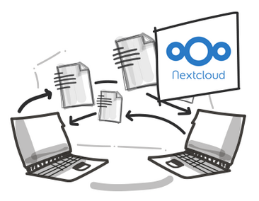 Scribble 2 Notebooks mit Nextcloud Logo